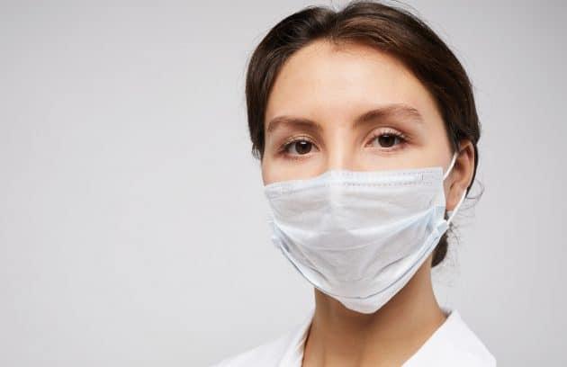 Female Nurse Closeup Portrait